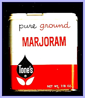 Tone's Ground Marjoram Tin, 1980s