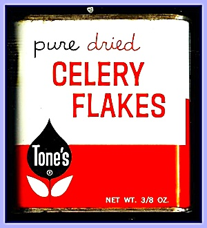 Tone's Celery Flakes, All-metal Tin