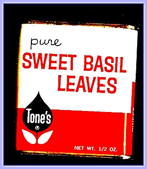 Tone's Sweet Basil Leaves, All-metal Tin