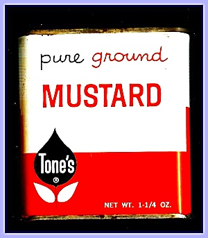 Tone's Ground Mustard, All-metal Tin