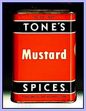 Tone's Spices Mustard, Vintage Tin (Image1)