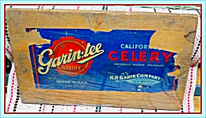 Original 1950s Celery Crate Box End And Label, Salinas Ca
