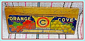 Original 1950s Grapes Fruit Crate Box End and Label   (Image1)