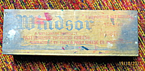 Original WINDSOR Yellow American Process Cheese Box, 1940s (Image1)