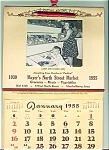 Kids on 1955 Iowa Grocery Store Calendar