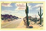 Click here to enlarge image and see more about item 1091: ARIZONA: Out Wickenburg Way, Highway 60