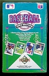 Click here to enlarge image and see more about item 1185: 1990 Upper Deck Baseball, Sealed Full Box, 36 Packs