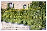 Click here to enlarge image and see more about item 1266: LOUISIANA: Historic Corn Fence, New Orleans