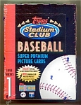Click here to enlarge image and see more about item 1295: 1993 Stadium Club Baseball, Series 1: Sealed Box of 24 Packs