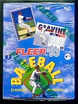 Click here to enlarge image and see more about item 1300: 1993 Fleer Baseball Cards, Series 1, Factory Sealed Box, 36 Packs