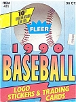 Click here to enlarge image and see more about item 1482: 1990 Fleer Baseball Cards, 10th Anniversary Retail  Box