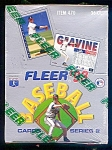 Click here to enlarge image and see more about item 1485: 1993 Fleer Series 2 Baseball Cards, Factory Sealed Full Box