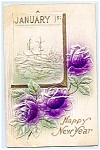 Click here to enlarge image and see more about item 1501: Roses, Calendar, Scene, New Year PC