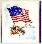 Click here to enlarge image and see more about item 1541: WWII Era Homecoming Greeting Card