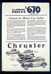 WWI Era Chrysler Motor Cars