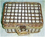 Click here to enlarge image and see more about item 1578: Basket for a Romantic Picnic - NEW!