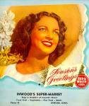 Click here to enlarge image and see more about item 16101: 1947 Inwood IA Red & White Foods Store Calendar, Product Pix