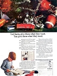 Click here to enlarge image and see more about item 1611: Neat 1963 Christmas Ad - Trains & Toys