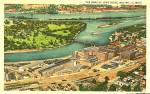 Click here to enlarge image and see more about item 16220: Home of John Deere, Moline IL, Vintage Postcard Aerial View