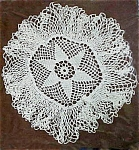 Click here to enlarge image and see more about item 1777: Neat Crocheted Doily, Full Edge