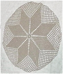 Click here to enlarge image and see more about item 1781: Pretty and Intricate Ecru Doily
