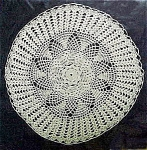Flower-Like Pattern, Off-White Doily