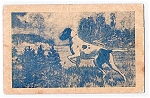 Click here to enlarge image and see more about item 1798: 1909 Hunting Dog Postcard