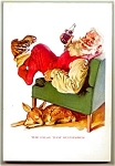 Click here to enlarge image and see more about item 1805: 1958 National Geographic, Santa Coke Ad