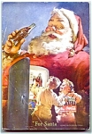 Click here to enlarge image and see more about item 1808: 1950 National Geographic, Santa Coke Ad