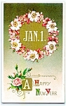 Click here to enlarge image and see more about item 1908: Roses & Apple Blossoms for New Year
