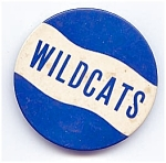 Click here to enlarge image and see more about item 1952: Wildcats School Mascot Pinback Button