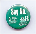 "Click here to enlarge image and see more about item 1959: ""SAY NO"" Pinback Button"