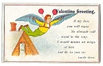 Click here to enlarge image and see more about item 2124: Valentine: Man with Wings on Roof