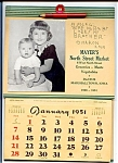 Click here to enlarge image and see more about item 2191: 1951 Grocery Calendar, Baby Brother