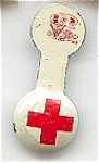 Click here to enlarge image and see more about item 2218: Red Cross Foldover Pin