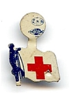 Click here to enlarge image and see more about item 2222: Red Cross Fold-Tab with Flag?