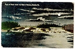 Click here to enlarge image and see more about item 2343: MAINE:  1915, Falls by Night from North Bridge, Auburn