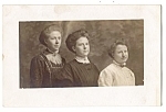 Click here to enlarge image and see more about item 2344: Mother, Daughters, 1900s Real Photo