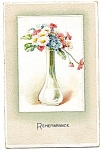 Click here to enlarge image and see more about item 2471: 1911 Remembrance, Pretty Vase of Flowers