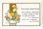 Cheery Greetings, Lovely Vase of Flowers