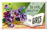 Click here to enlarge image and see more about item 2474: Poppies -- To Sweetest of Girls, 1912