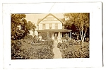 Click here to enlarge image and see more about item 2539: Home with GREAT Garden - Real Photo