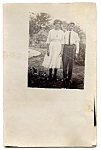 Click here to enlarge image and see more about item 2546: First Date or Brother/Sis? Real Photo