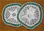 Click here to enlarge image and see more about item 2732: Pair of Small Star Pattern Doilies