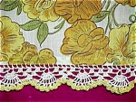 Click here to enlarge image and see more about item 2745: Gold Table Runner � Sweet Peas