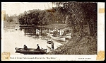Click here to enlarge image and see more about item 2777: IOWA: 1909 Launch Fleet at the 'Big Eddy', Cedar Falls