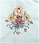Click here to enlarge image and see more about item 2814: Pretty Lilies on Pillow Case