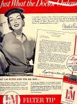 Click here to enlarge image and see more about item 3659: Rosalind Russell for L&M Cigarettes, 1954 Ad