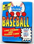 Click here to enlarge image and see more about item 3783: 1990 Fleer Baseball Cards, Stickers; Lot of 6 Unopened Packs