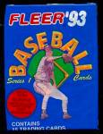 Click here to enlarge image and see more about item 3790: 1993 Fleer Baseball Cards, Series 1, Lot of 25 Unopened Packs